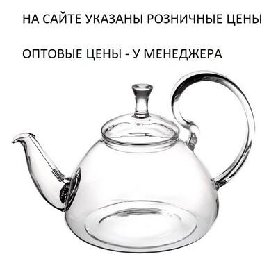"""237001 Чайник """"Георгин"""" 600 мл, стекло, с пружинным ситом"""