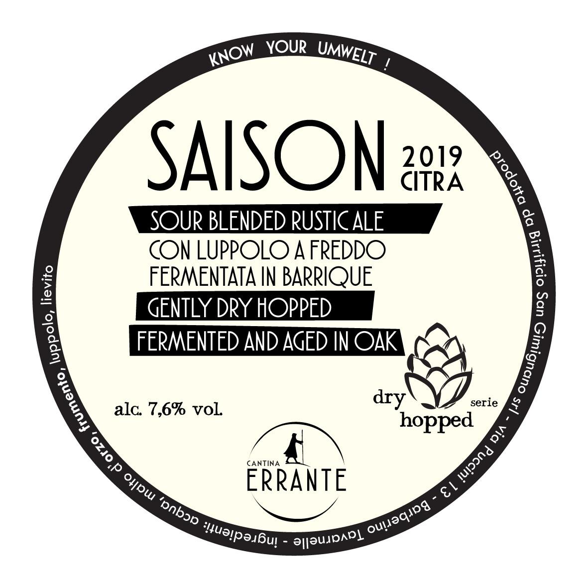 SAISON SOUR BLENDED '19 - DRY HOPPED CITRA