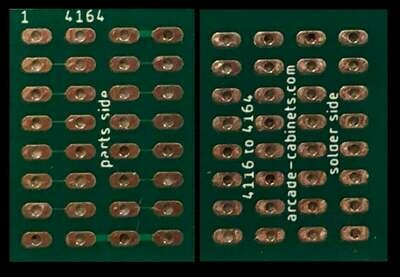 4164 adapter pcb for 4116 ram (8 pieces)