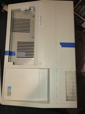 Beige case with blue power switch good condition