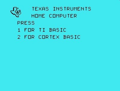 Cortex Basic for the Ti-99/4a