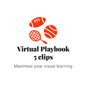 Virtual Playbook of 5 animated 3D clips virtual stadium clips.