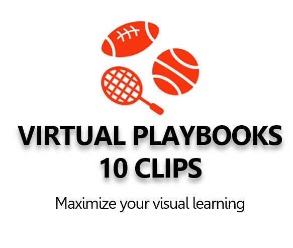 Virtual Playbook of 10 animated 3D clips virtual stadium clips.