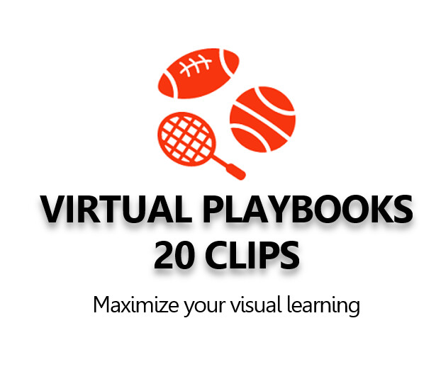 Virtual Playbook of 20 animated 3D clips virtual stadium clips.