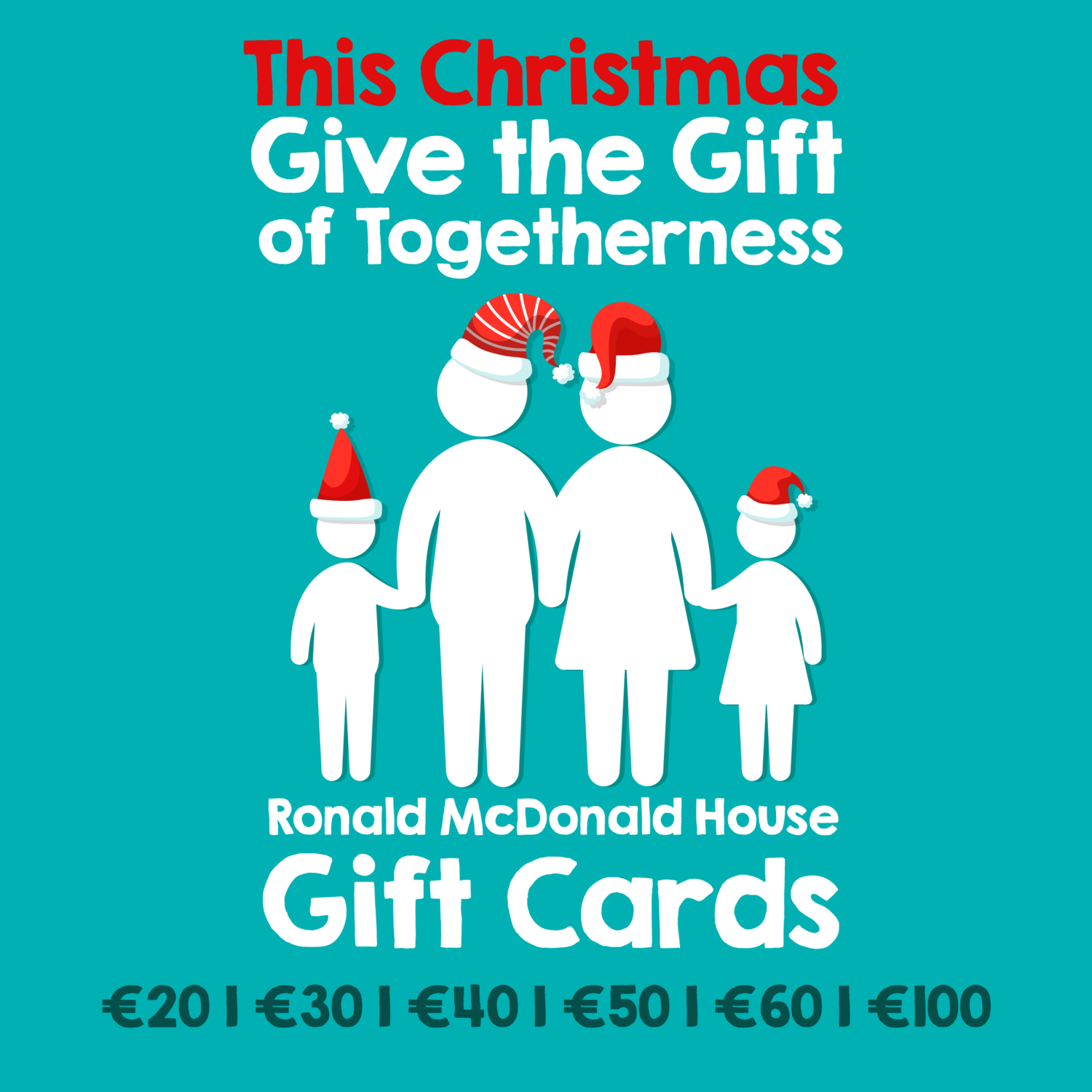 Give the Gift of Togetherness with a RMHC Gift Card