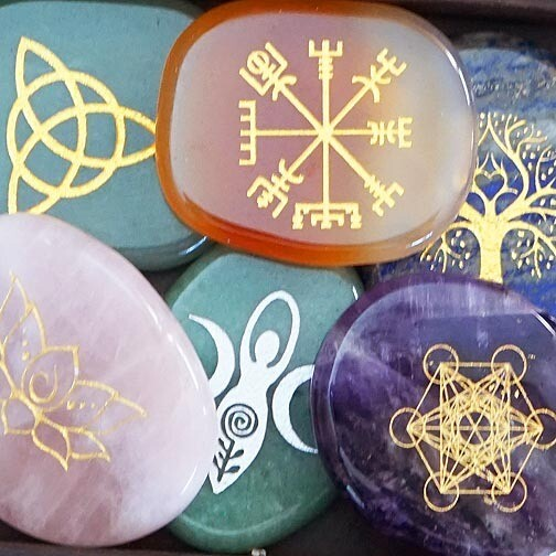 Palm Stones With Symbols