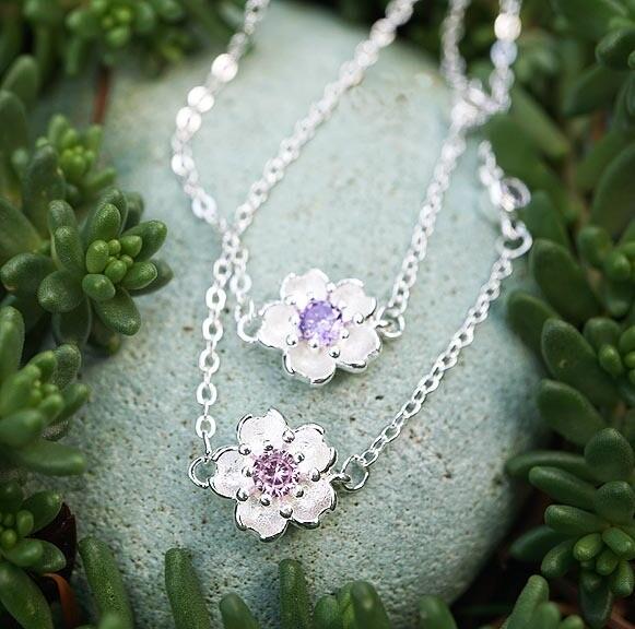 Floral Bracelet in Sterling Silver