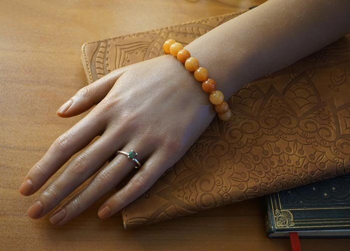 Imperial Yellow Jade Bracelet