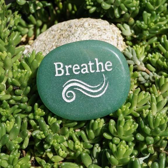 Breathe Palm Stone in Green Aventurine