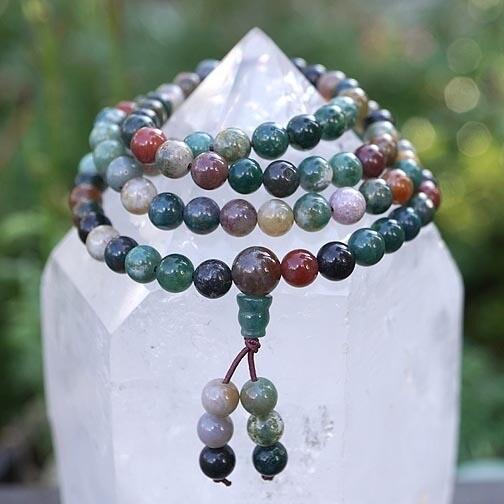 Indian Agate Prayer Beads
