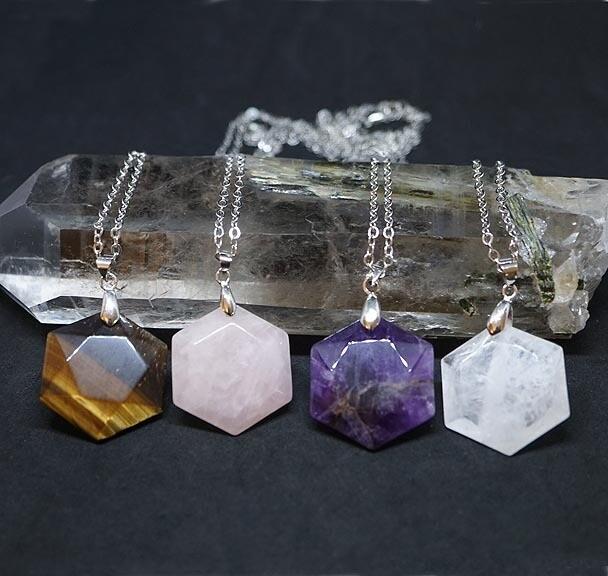 Hexagonal Crystal Pendants