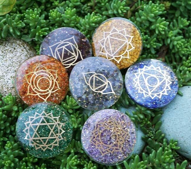 Orgone Chakra Palm Stones