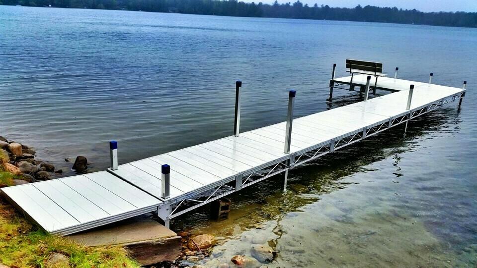 Dock Rite Roll In Dock Aluminum Decking Dock Rite Docks Wheeler Marine Llc