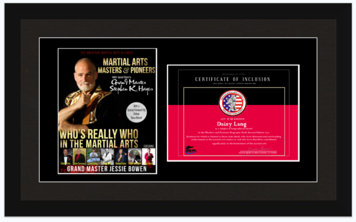 Framed Art - Certificated & Book Cover