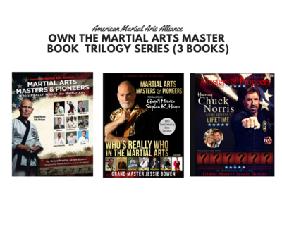 Own the Martial Arts Masters & Pioneers Biography Book Trilogy Series ( 3 Books)