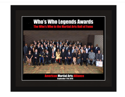2016 Who's Who Legends Inductees Poster Framed