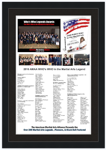 2019 ​AMAA Legends Award Framed Inductee Name Poster