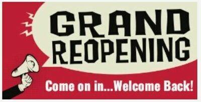 Grand Reopening Banner &  Marketing Plan