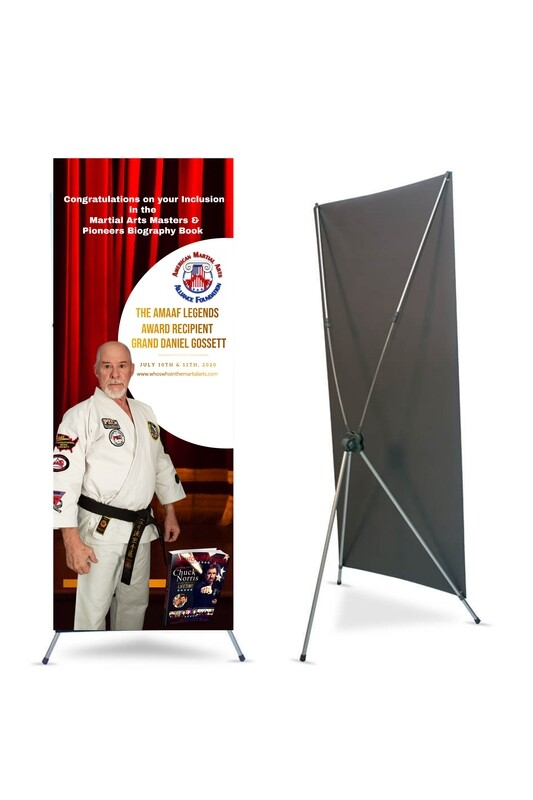 Legends Promotional X-Banner with stand