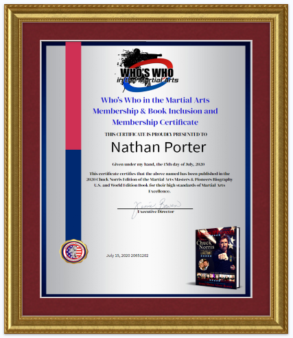 Custom Framed AMAA Inclusion Certificate