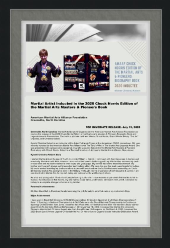 AMAA Custom Framed Art Press Release