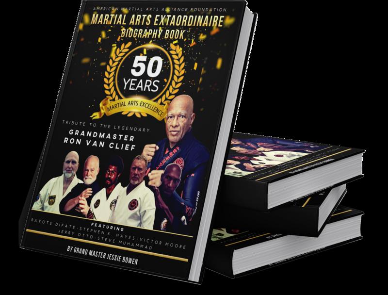Limited Edition Martial Arts Extraordinaire Biography Book Signed Copy by Grandmaster Ron Van Clief