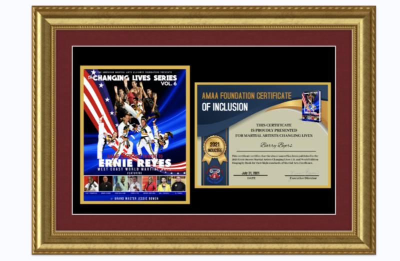 Custom Framed Induction Certificate & Book