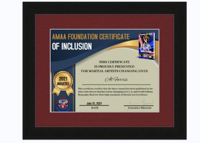 Custom Framed Induction Certificate