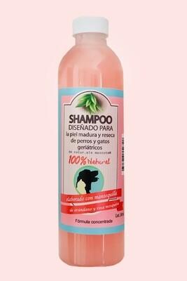 Shampoo geríatrico /edad avanzada/ Arándanos- mantequillas orgánicas/ 240 ml.