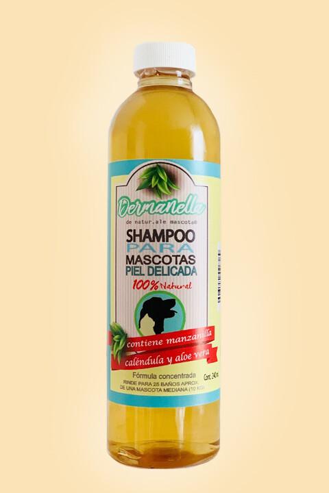 Shampoo Hipoalergénico / Manzanilla-caléndula-aloe vera-miel/ 240 ml.