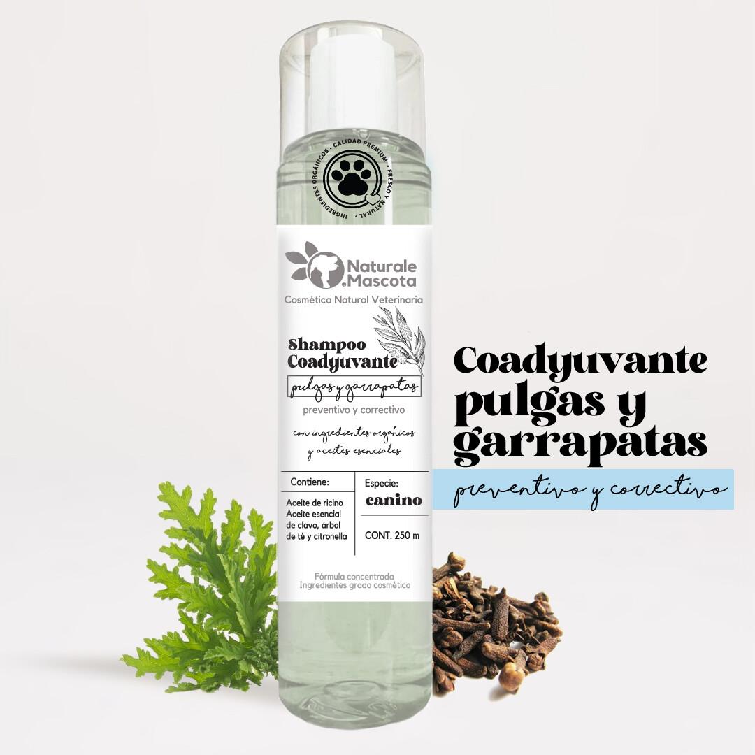 Shampoo coadyuvante (antipulgas)