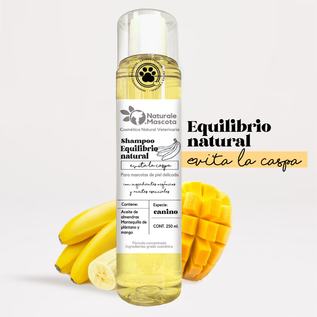 Shampoo equilibrante / Plátano-mango/ 250 ml.