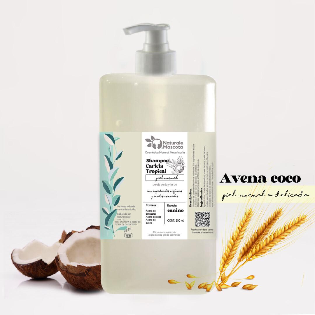 Shampoo para perros: avena, coco y almendras/ 1 litro