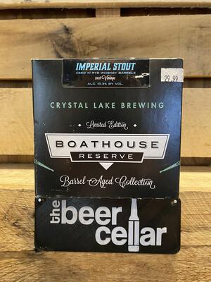 Crystal Lake Boathouse Rye Barrel Aged Stout 4pk