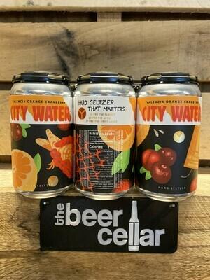 City Water Orange Cranberry Hard Seltzer 6pk