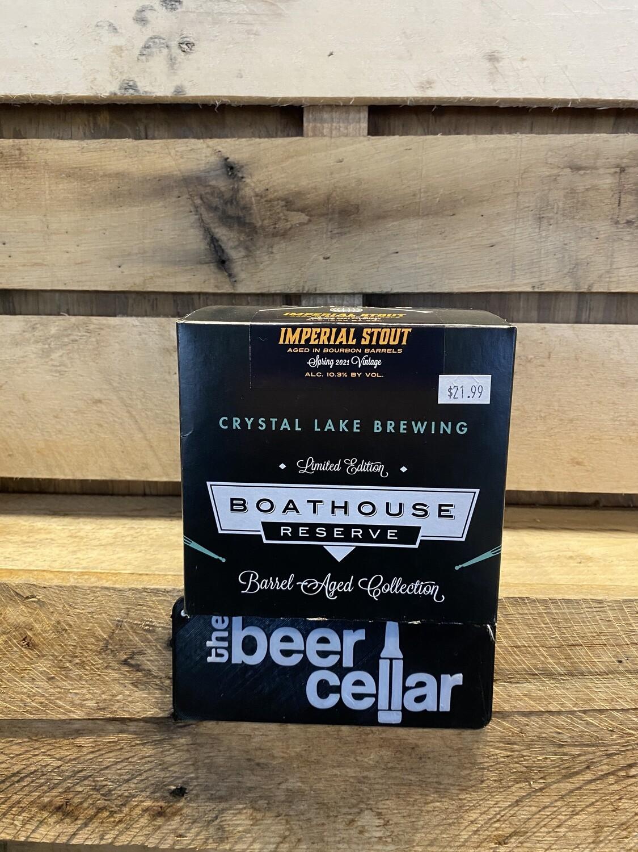 Crystal Lake Boathouse Bourbon Barrel Aged Imperial Stout 4pk