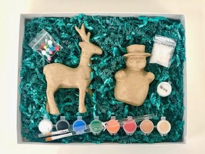 Reindeer and Snowman Craft Kit