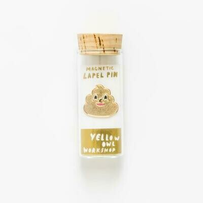 Gold Poo Emoji Lapel Pin