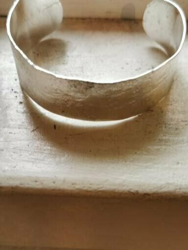 Custom Hand-forged textured Bracelet