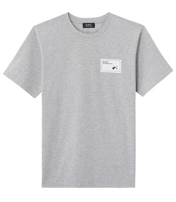 T-SHIRT A.P.C GRIS CHINÉ     PEPPER