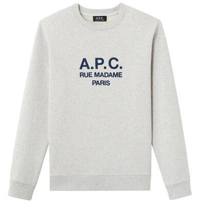 SWEAT A.P.C GRIS CHINÉ CLAIR  RUFUS