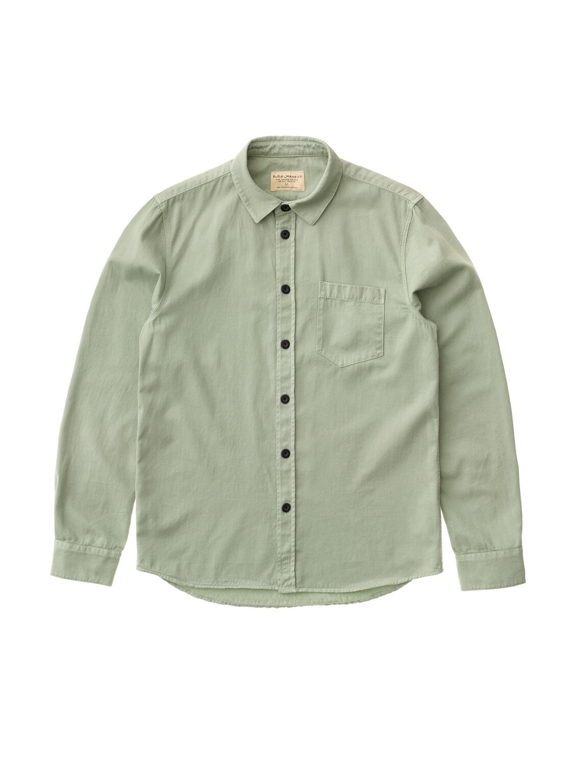 CHEMISE NUDIE JEANS Henry Pale Green