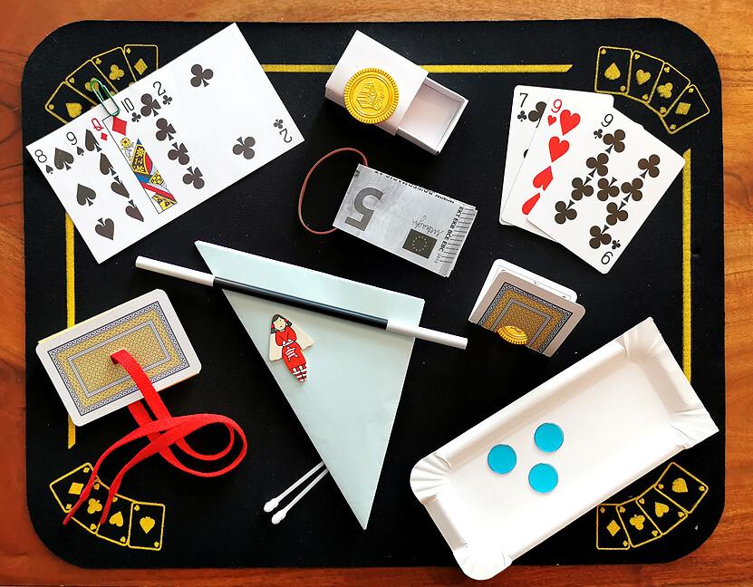 Zaubertrick-Set  9 Zaubertricks inkl. Zauberstab und Link zu einer Videoerklärung