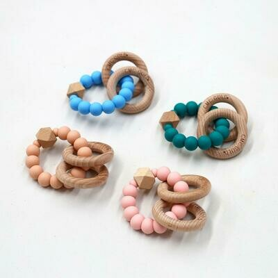 Rattle Hex & Silicone Teether