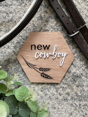 New Cowboy/girl Announcement Plaque
