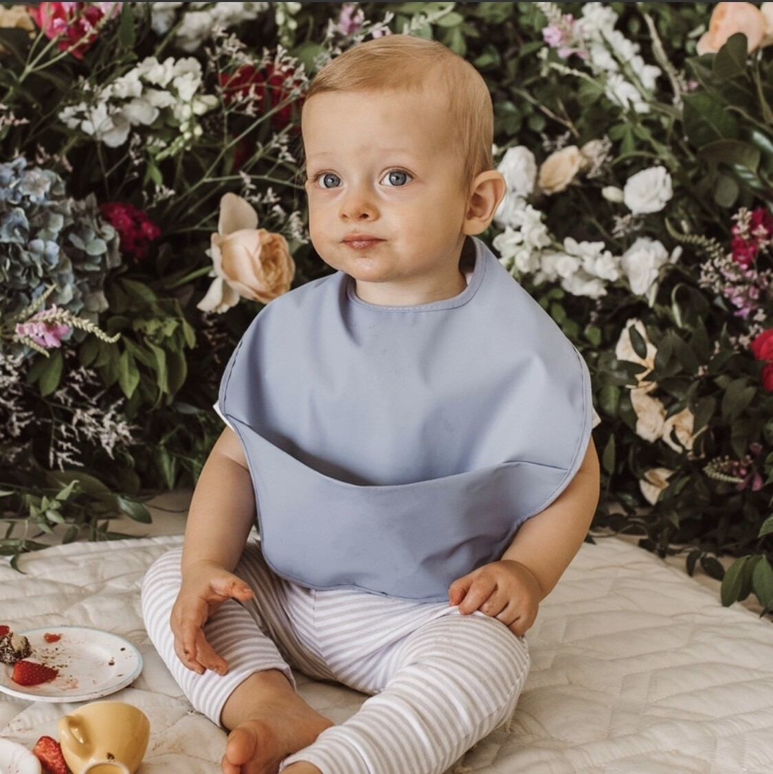 Sky Blue Waterproof Snuggle Bib