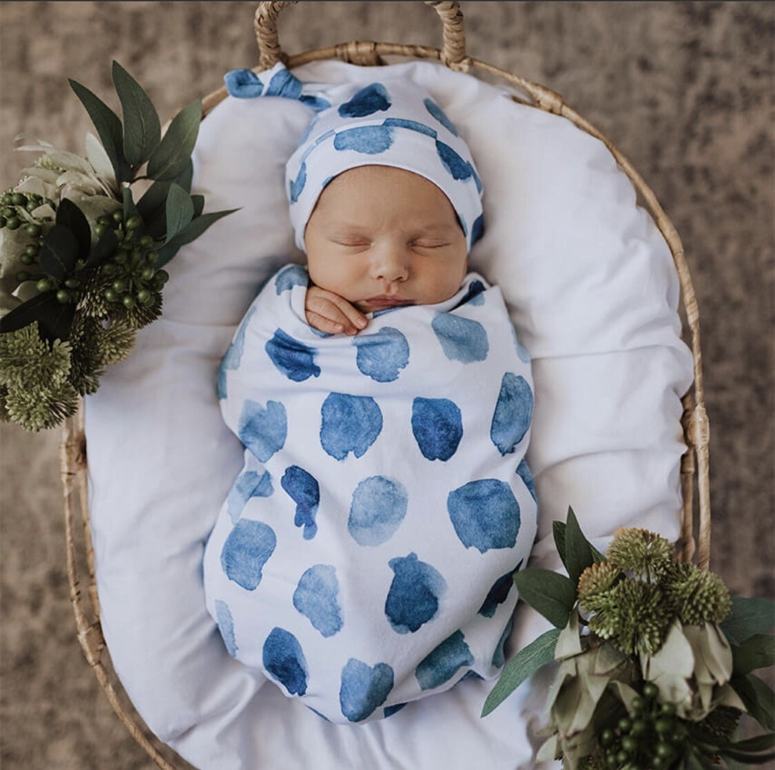 Ocean Skies - Snuggle Swaddle Sack & Beanie Set