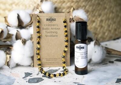Teething Amber Necklace & Roller Blend