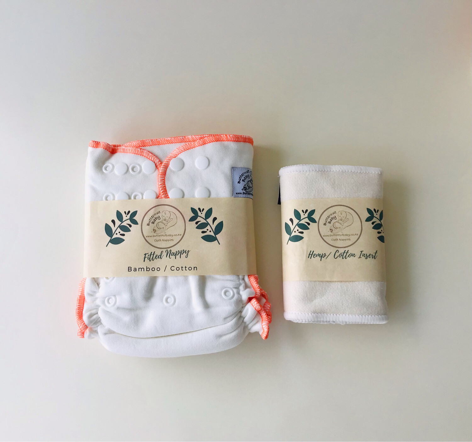 Fitted Nappy with Hemp Booster