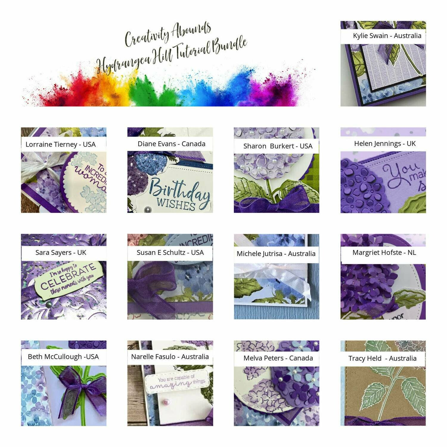Creativity Abounds Hydrangea Hill Tutorial Bundle